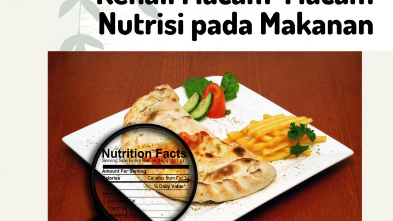 Kenali Macam-Macam Nutrisi pada Makanan